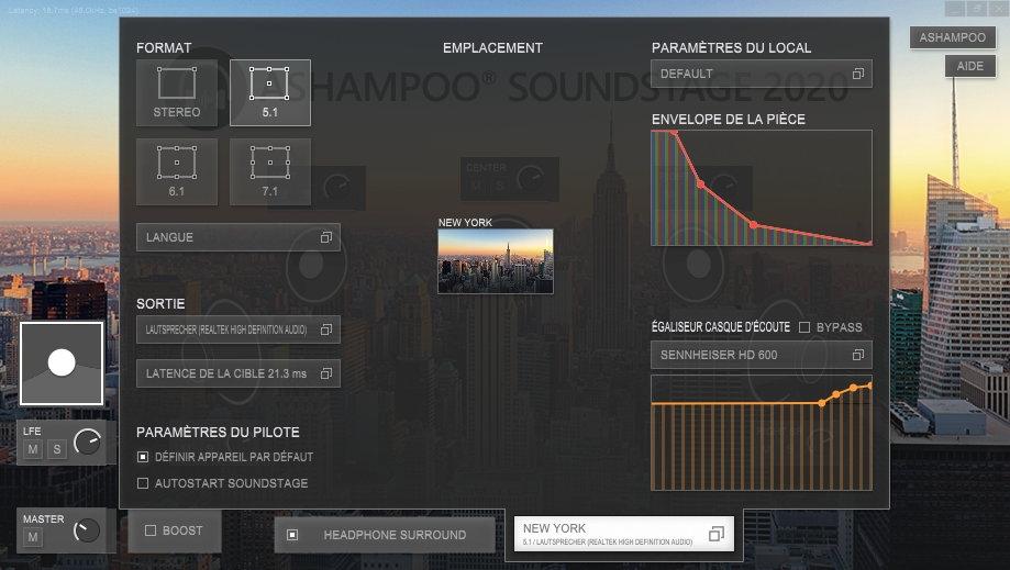 Capture d'écran Ashampoo Soundstage 2020