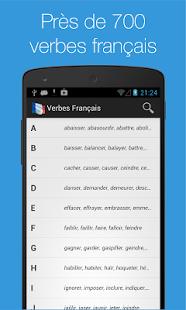 Capture d'écran Verbes Français