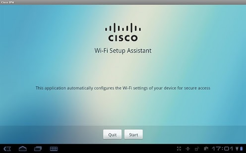 Capture d'écran Cisco Network Setup Assistant