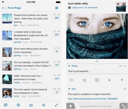 Capture d'écran Alien Blue iOS