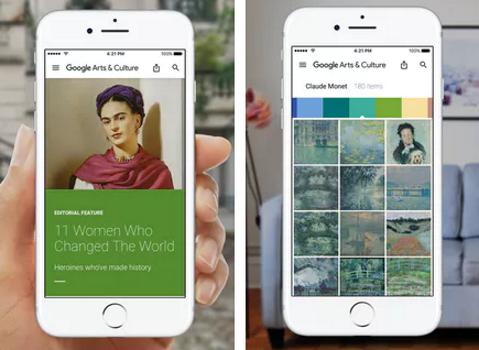 Capture d'écran Google Arts et Culture pour iOS