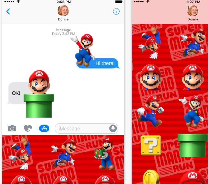 Capture d'écran Super Mario Run Stickers iOS