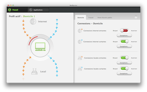 Capture d'écran Intego Mac Internet Security X9