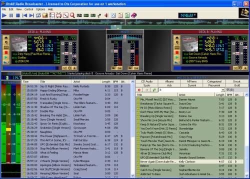 Capture d'écran OtsAV Radio