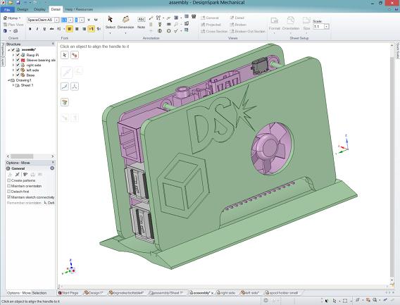 Capture d'écran DesignSpark Mechanical