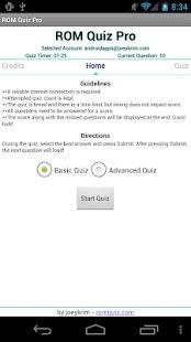 Capture d'écran ROM Quiz Pro