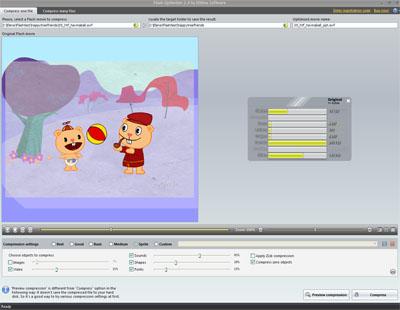 Capture d'écran SWF Compressor