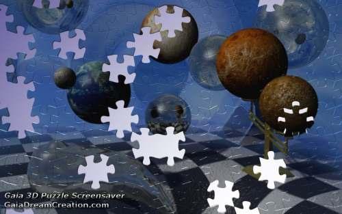 Capture d'écran Gaia 3D Puzzle Screensaver