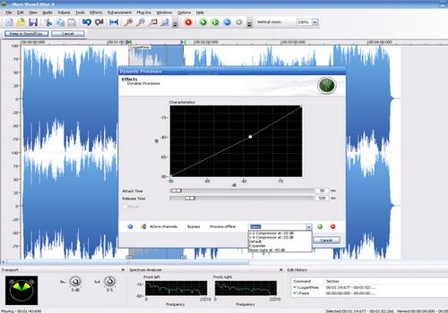 Capture d'écran Nero Wave Editor