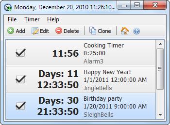 Capture d'écran Free Countdown Timer Portable