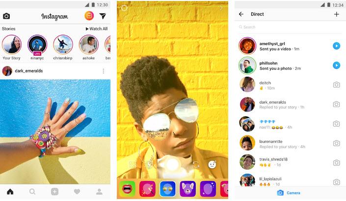 Capture d'écran Instagram android