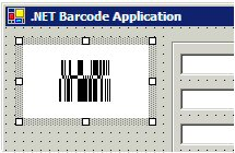 Capture d'écran GS1 DataBar Windows Forms Control