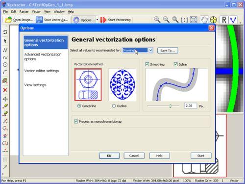 Capture d'écran Vextractor