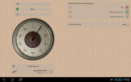 Capture d'écran Altimètre précis
