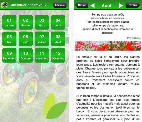 Capture d'écran Calendrier des travaux du jardin iOS