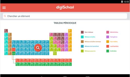 Capture d'écran Eléments chimiques Android