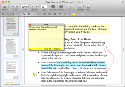 Capture d'écran PDFpenPro