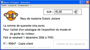 Capture d'écran Reçus 3.0 Expert