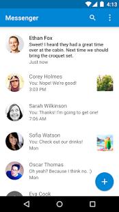 Capture d'écran Messenger