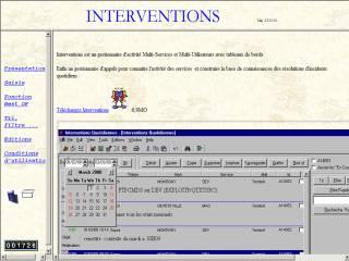 Capture d'écran Interventions