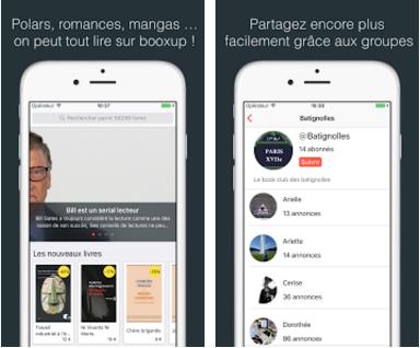 Capture d'écran Booxup iOS