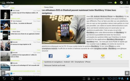 Capture d'écran Appy Geek Android
