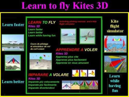 Capture d'écran Apprendre à voler Kites 3D