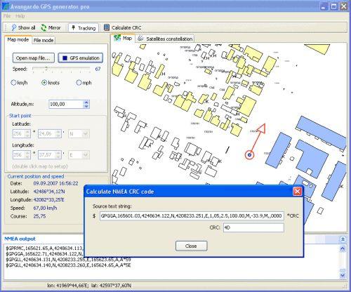 Capture d'écran GPS Generator PRO