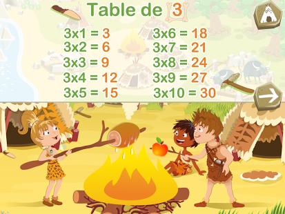 Capture d'écran Tables de multiplication