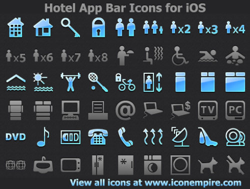 Capture d'écran Hotel App Tab Bar Icons for iOS