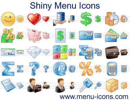 Capture d'écran Shiny Menu Icons