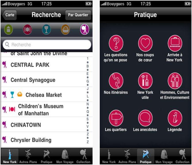 Capture d'écran Guide du routard New-York iOS