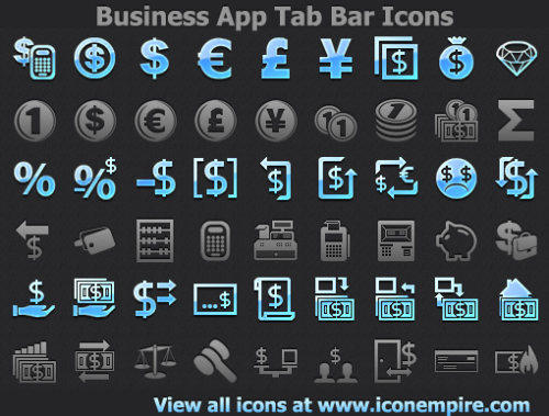 Capture d'écran Business App Tab Bar Icons