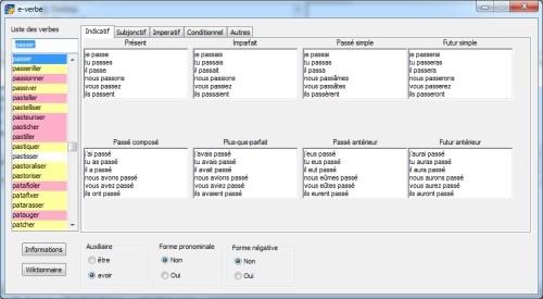 Capture d'écran e-verbe