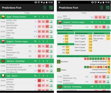 Capture d'écran Prédictions Foot Android