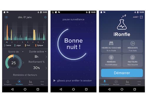 Capture d'écran iRonfle Android