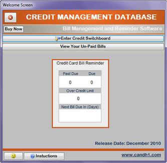 Capture d'écran Credit Management Database