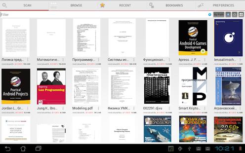 Capture d'écran PDF Reader Lire