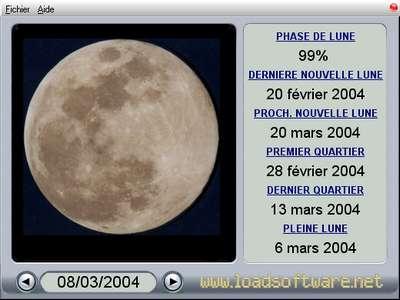 Capture d'écran EuroThink Lune