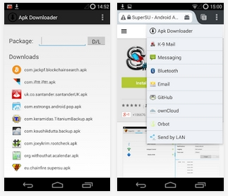 Capture d'écran Apk Downloader Extension Android