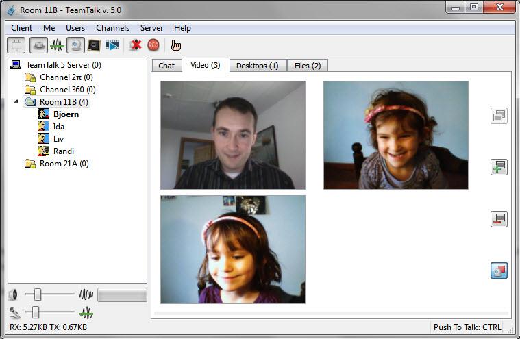 Capture d'écran TeamTalk