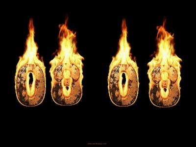 Capture d'écran Burning Clock Screensaver