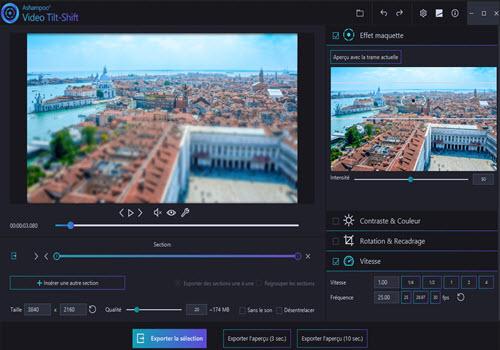 Capture d'écran Ashampoo Video Tilt-Shift