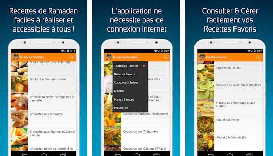 Capture d'écran Recettes du Ramadan 2017