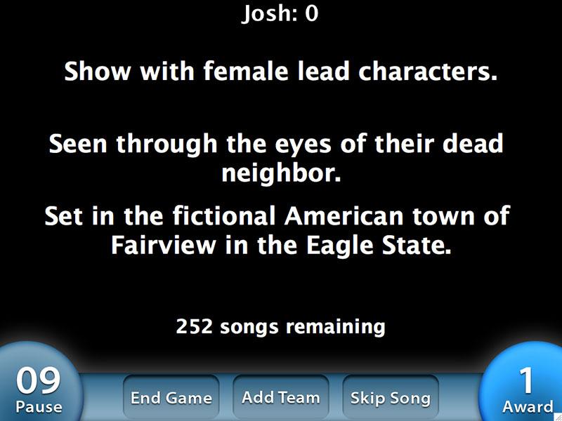 Capture d'écran Theme Song Trivia
