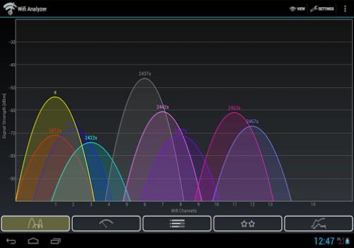 Capture d'écran WiFi Analyzer Android