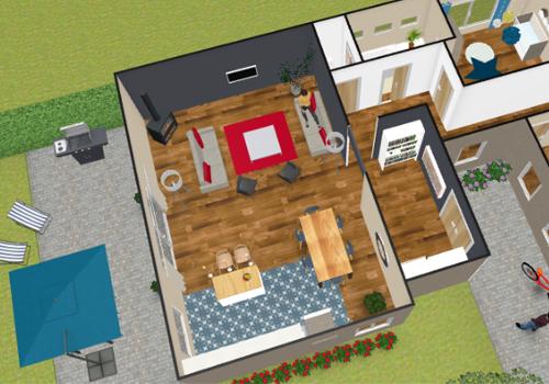 Capture d'écran Kozikaza – Plan 3D