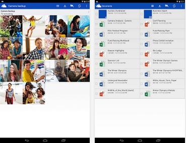 Capture d'écran OneDrive Android