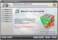 Capture d'écran DBConvert for Excel & MS SQL