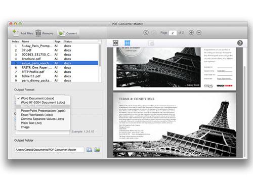 Capture d'écran PDF Converter Master 3.5.0
